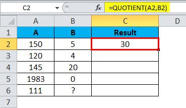 QUOTIENT Example 3-4