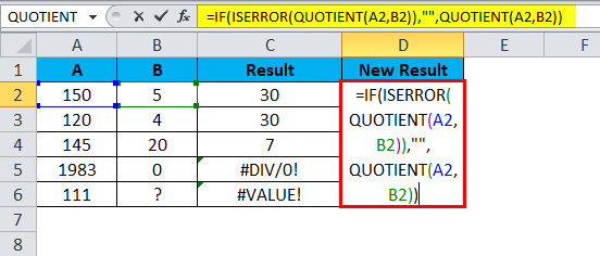 QUOTIENT Example 3-6