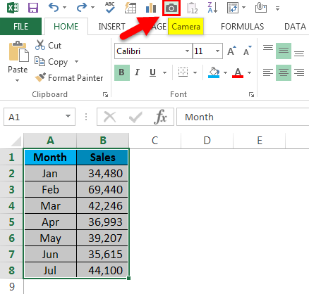 Quick Access Toolbar in Excel step 5