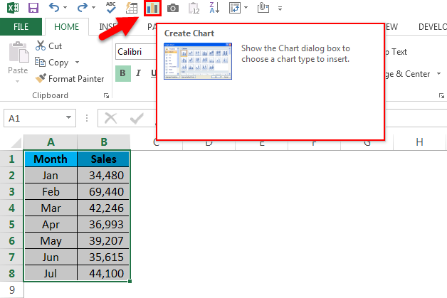 Quick Access Toolbar in Excel step 7