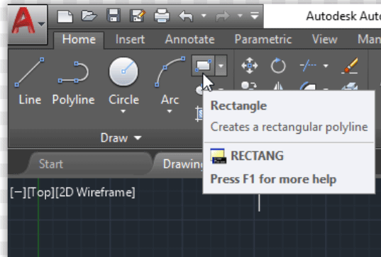 AutoCAD Commands – REC is for rectangle