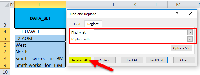 Remove Spaces Example 1-4