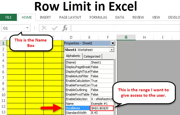 Row Limit in Excel
