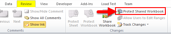 Protect Shared Workbook