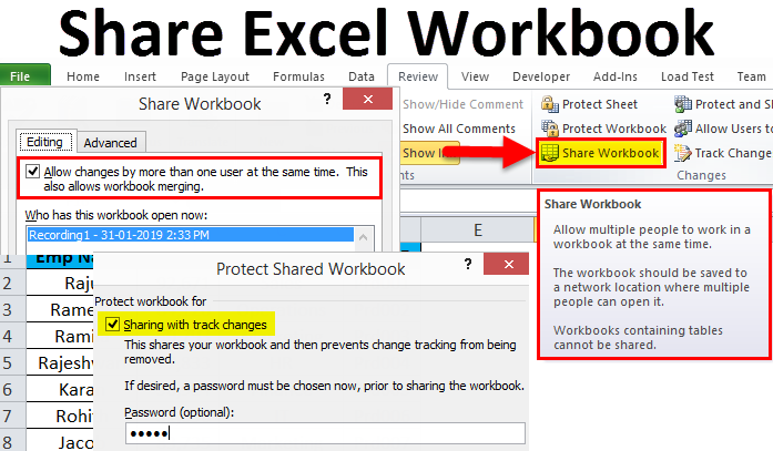 Share Excel Workbook