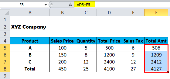 Show Formulas in MS Excel 2-2