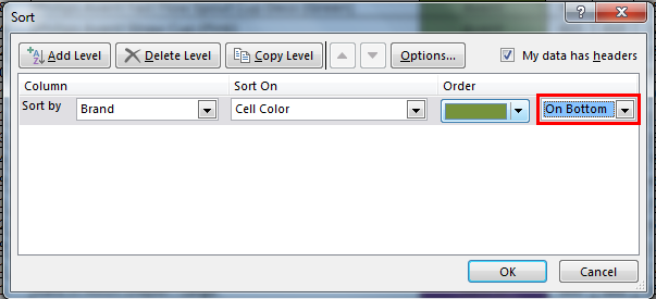 Sort by color in example 5.3