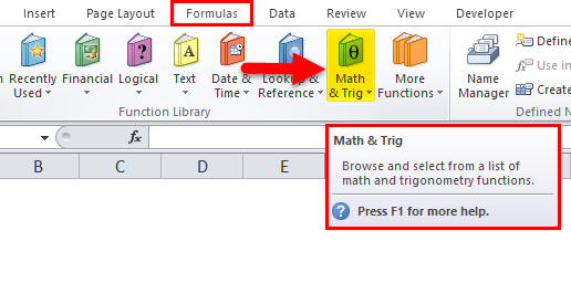 Math & Trig option
