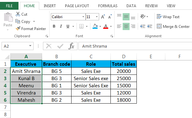 Executives to strikethrough in excel