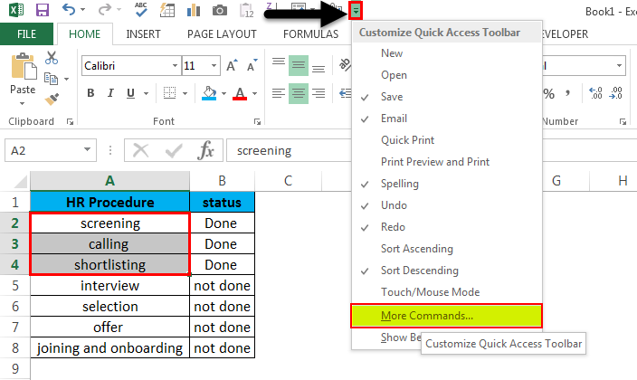 Strikethrough in Excel 5.1