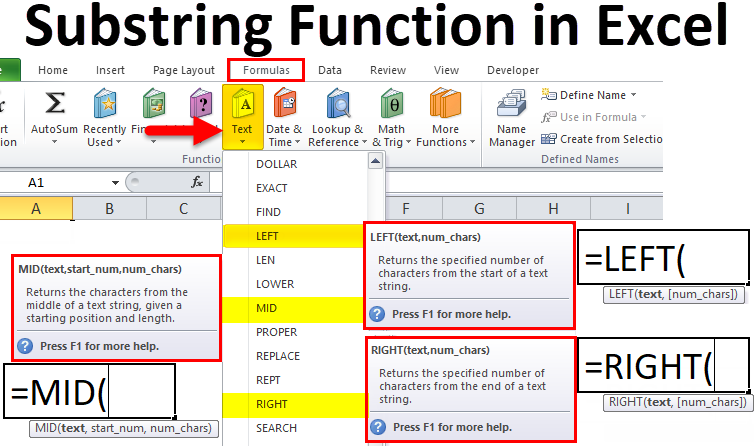 Substring Function in Excel