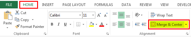 Unmerge the Cells in Excel (Merge & center)