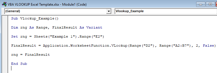 VBA VLOOKUP in Excel (Formula, Example) | How to Use VBA VLOOKUP