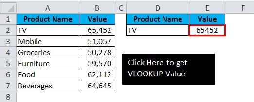 VBA VLOOKUP Example 2-6