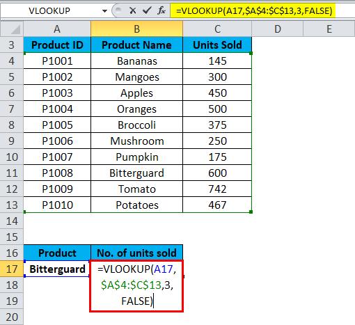 VLOOKUP Errors Example 1-3