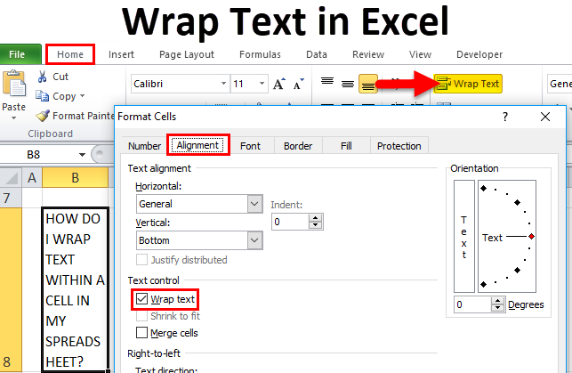 Wrap Text in Excel ( Using Wrap Text and Format Cells Option)