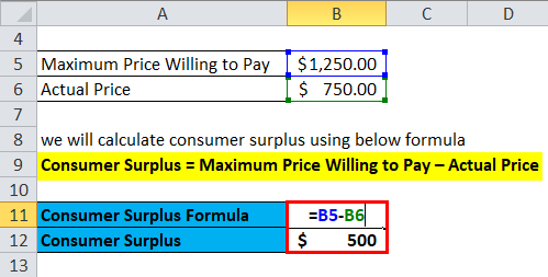consumer surplus Example 1-2