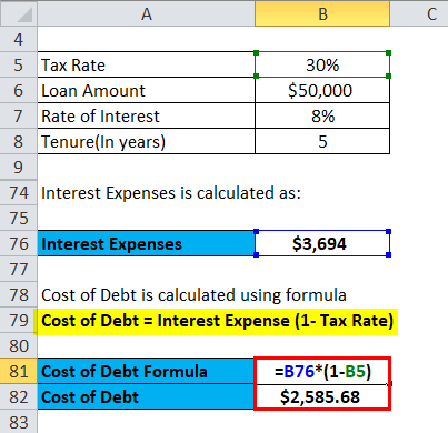 cost of debt example 4-4