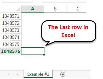 row excel limit 1