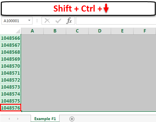 row excel limit step 1