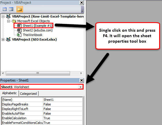 row excel limit step 6