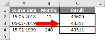 AMD in Excel example 2-5