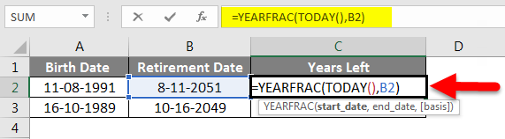 Adding Months to Dates in Excel example 3-4