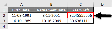 Adding Months to Dates in Excel example 3-5