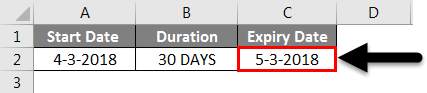 Adding Months to Dates in Excel example 4-3
