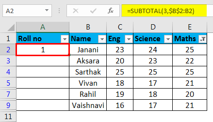 Autonumbering in Excel example 5-6