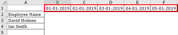 Calendar in Excel example 2-3