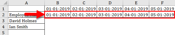 Calendar in Excel example 2-4