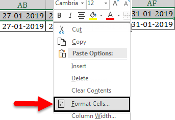 Calendar in Excel example 2-5