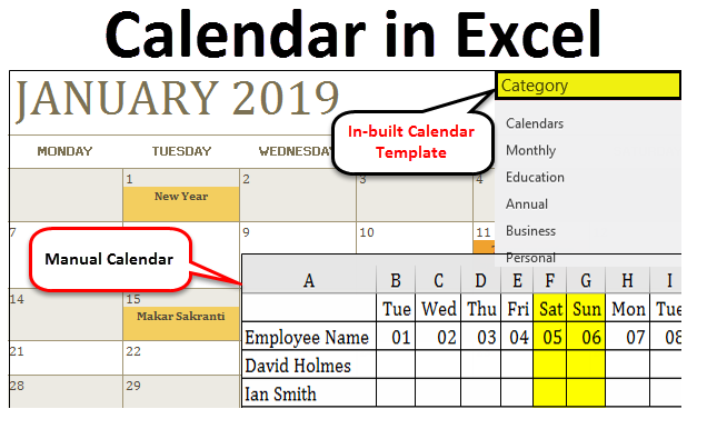 Calendar in Excel | How to use Calendar in Excel?