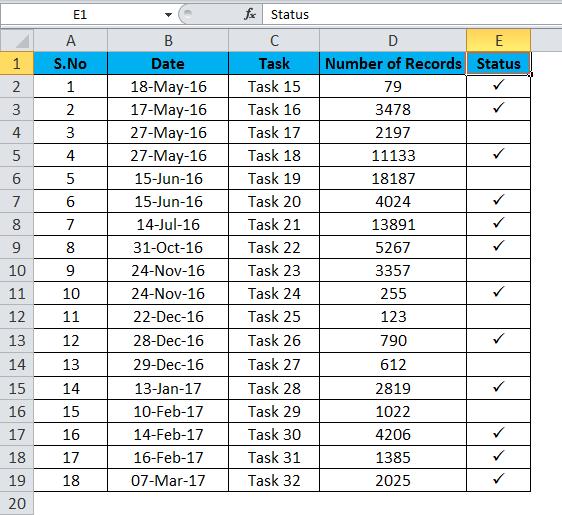 Checkmark Example 1-1