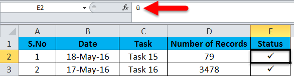 CheckMark in Excel (Examples) | How to insert checkmark symbol?