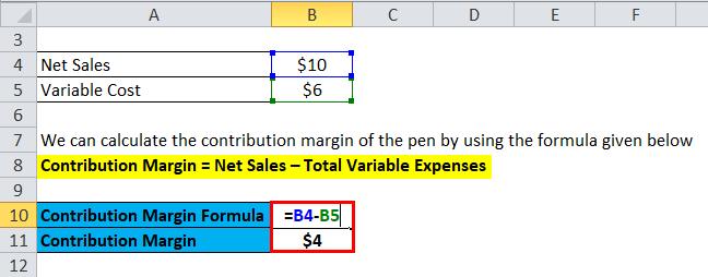 Contribution Margin Example 1-2