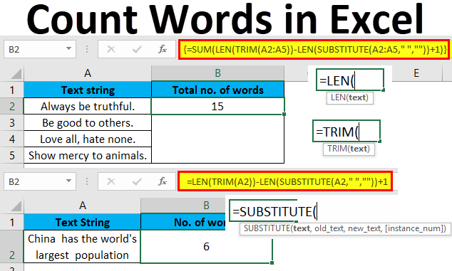 Count Words in Excel