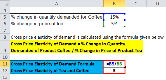 Cross Price Elasticity of Demand Example 1-2