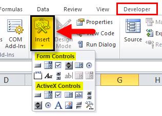 Developer Tab Example 4