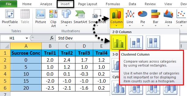 Error Bar Example 3-2