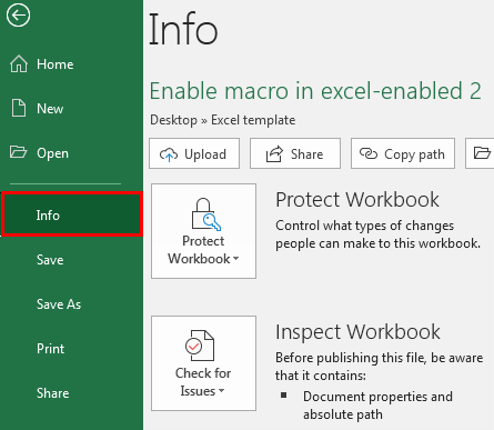 Excel Enable Macros Example 1-9