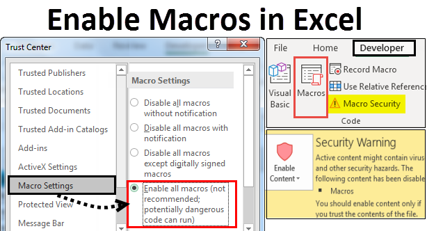 Excel Enable Macros Example