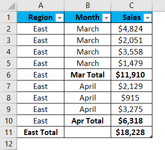 Excel Group Example 1-1