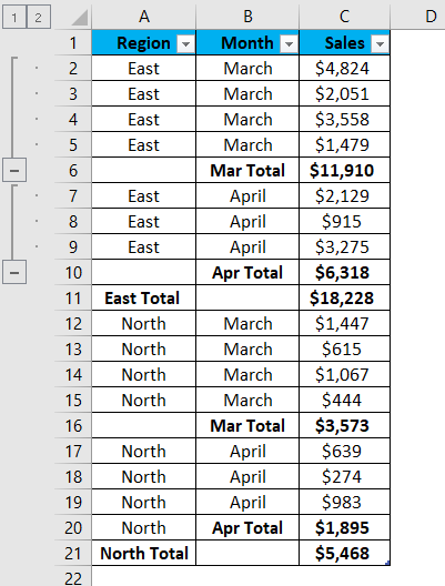 Excel Group Example 2-7