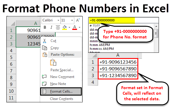 Format Phone Numbers Example