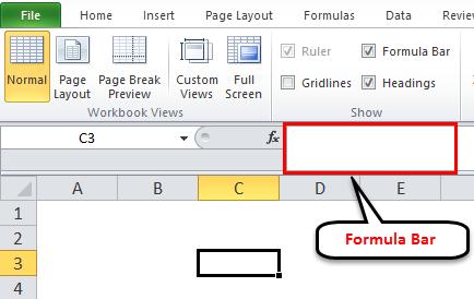 Formula bar example 1-1