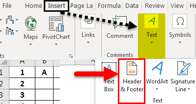 Header and Footer in Excel example 1-2