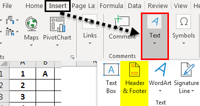 Header and Footer in Excel example 2-2