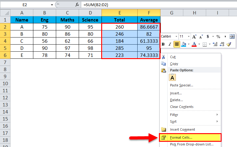 Hide formula in MS-Excel 2-1
